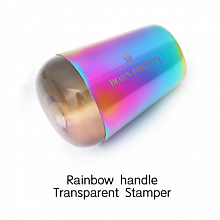 Born Pretty, Штамп 45934-01 Rainbow Handle Holo Transparent, 1 шт
