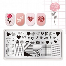 Born Pretty, Пластина для стемпинга Valentine's Day BP-L002, 12*6 см (Арт. 41926)