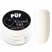 "PUF, Полигель ""Crystal gel"" WHITE (Белый) #101, 15 мл."