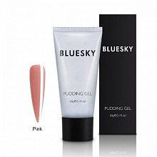 BLUESKY, Полигель PUDDING GEL PINK (Розовый), 60 ml