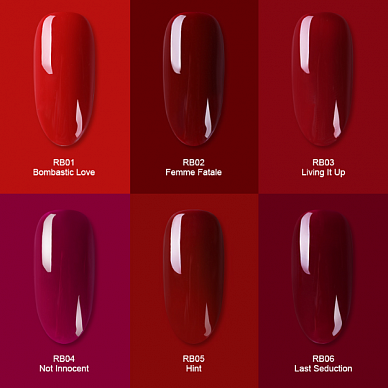 Гель-лак Born Pretty Red Blaze Series (RB), 6 ml. (Арт. 42872)