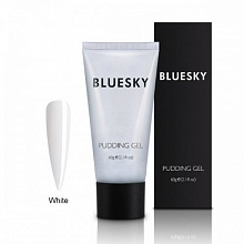 BLUESKY, Полигель PUDDING GEL WHITE (Белый), 60 ml