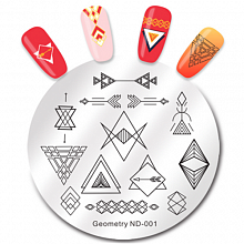 Geometry ND-001 NICOLE DIARY Диск для стемпинга 5.5 см (44147)